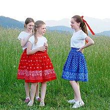 Detské oblečenie - Kamarátky / Folk sukňa - 10806668_