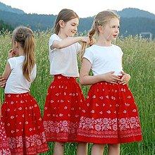 Detské oblečenie - Červenú sukničku rada nosím - 10806747_