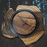 Hodiny - Artefakt - Orechové drevené hodiny - 10808255_