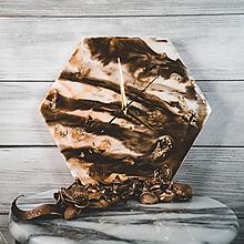 Hodiny - Marble - Živicové dekoračné hodiny - 10808436_