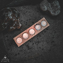 Svietidlá a sviečky - Drevený svietnik - Elima - 10808506_