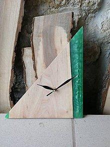 Hodiny - Hodiny, drevo-epoxid - 10807987_