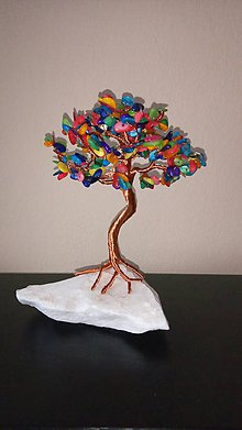 Drobnosti - Stromček z farebnej Perlete - 10806546_