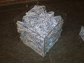 Nábytok - sklenene kocky - 10807373_