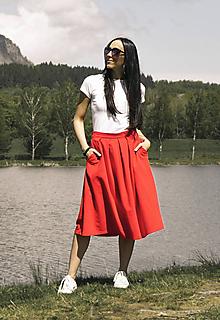 Sukne - Tepláková sukňa s vreckami - 10807737_