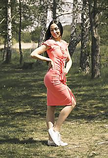 Šaty - Šaty koralové leto - 10807816_