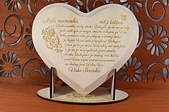 Darčeky pre svadobčanov - Poďakovanie Rodičom ipové srdiečko s ľudovým vzorom Folklór na ľudovú nôtu 1 - 10806303_