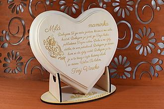 Darčeky pre svadobčanov - Poďakovanie Rodičom ipové srdiečko s ľudovým vzorom Folklór na ľudovú nôtu 2 - 10806325_