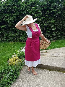 Šaty - Ľanová zástera - 10806869_