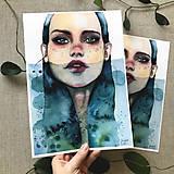 Obrazy - Siréna, (ART PRINT) akvarel - 10806196_