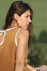 Šaty - Ľanové šaty Zlatena - 10808788_