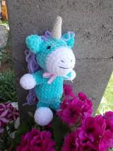 Hračky - hačkovaný unicorn - 10809044_