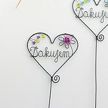 Dekorácie - srdiečko-ďakujem pre pani učiteľku (Fialová) - 10808642_