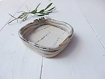 Nádoby - Mištička levanduľová mint+perleť - 10810460_