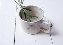 Nádoby - Malý hrnček levanduľový mint+perleť - 10810486_