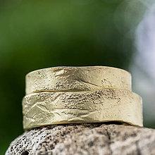 Prstene - Na vlne času  (verzia v zlate dozdobená prachom) - 10809414_