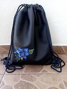 Batohy - Batoh modrý kvet - 10810530_