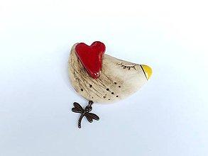 Odznaky/Brošne - vtáčik - 10809361_