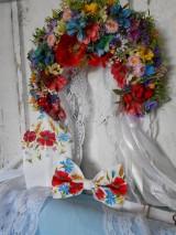 "Doplnky - FLORAL FOLK "" Maky, nevädza a obilné klásky "" svadobný exkluzívny motýlik a vreckovka (FLORAL FOLK "" Maky, nevädza a obilné klásky "" svadobný exkluzívny motýlik a vreckovka + manž. gombíky) - 10810187_"