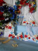 "Doplnky - FLORAL FOLK "" Maky, nevädza a obilné klásky "" svadobný exkluzívny motýlik a vreckovka (FLORAL FOLK "" Maky, nevädza a obilné klásky "" svadobný exkluzívny motýlik a vreckovka + manž. gombíky) - 10810189_"