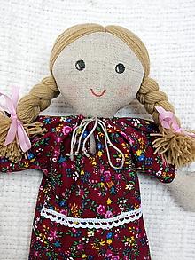 Bábiky - Katka - handrová bábika (bábika 3) - 10808681_