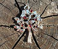 Náhrdelníky - tree of life-garnet red-granát II - 10810803_