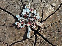 Náhrdelníky - tree of life-garnet red-granát II - 10810804_