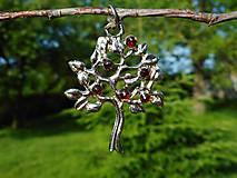 Náhrdelníky - tree of life-garnet red-granát II - 10810808_
