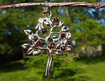Náhrdelníky - tree of life-garnet red-granát II - 10810810_