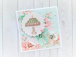 Papiernictvo - Svadobná pohľadnica - 10809792_