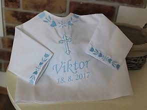 Detské oblečenie - Košieľka na krst folk - 10809039_