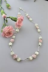Náhrdelníky - perleť kvietky náhrdelník luxusný - svadobný - 10809606_