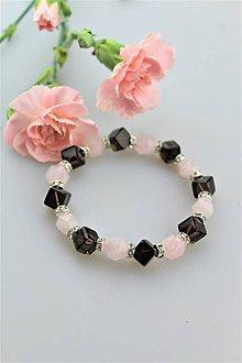 Náramky - ruženín so záhnedou náramok luxusný - 10809575_