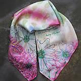 Šatky - Nežnosti kvetín-hodvábna ecoprint šatka - 10809906_