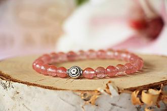 Náramky - Minerálny náramok - Ružový krištáľ - 10810200_
