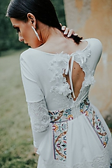 Šaty - spoločenské šaty Holubička - 10809367_