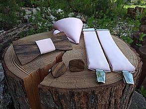 Doplnky - Pánsky drevený motýlik, manžetové gombíky, traky a vreckovka - 10810168_