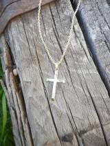 Iné šperky - Krížik dvojfarebný - 10808841_