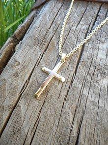 Iné šperky - Krížik dvojfarebný - 10808840_