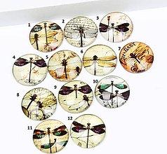 Komponenty - KA119 Kabošon vintage vážky 12 mm - 10808593_