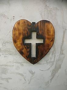 Dekorácie - Nástenné srdce -Ako z vosku- - 10810520_