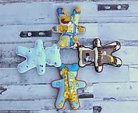 Hračky - Ručne šitý macko (Modrý s ovečkami) - 10809339_