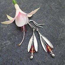 Náušnice - Fuchsie ružovooranžová - náušnice - 10810222_