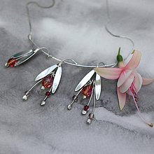 Náhrdelníky - Fuchsie ružovooranžová - náhrdelník - 10810290_