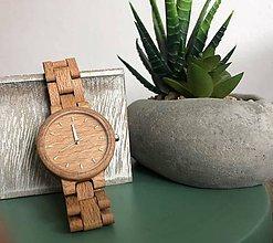 Iné doplnky - Dámske drevené náramkové hodinky - 10809596_