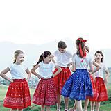 Detské oblečenie - Slovenské dievčatá / folk sukňa - 10809715_