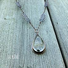 Náhrdelníky - Hluboká tůňka - náhrdelník - lodolit 132 - 10809664_
