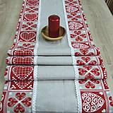 Úžitkový textil - ZUZANA-krása tradície červená (1)-stredový obrus - 10808580_