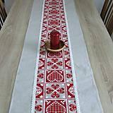 ZUZANA-krása tradície červená (2)-stredový obrus