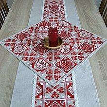 Úžitkový textil - ZUZANA-krása tradície červená (1)-štvorec 50x50 - 10808603_